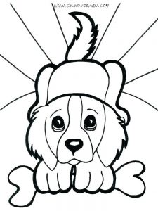 Dog Coloring Pages For Kindergarten