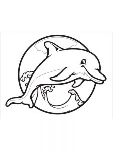 Dolphin Coloring Pages For Toddlers