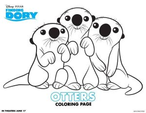 Dory Otters Coloring Page