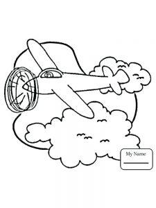 Double Decker Airplane Coloring Pages 1