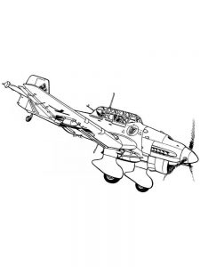 Double Decker Airplane Coloring Pages