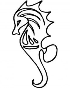 Download seahorse coloring Sheet