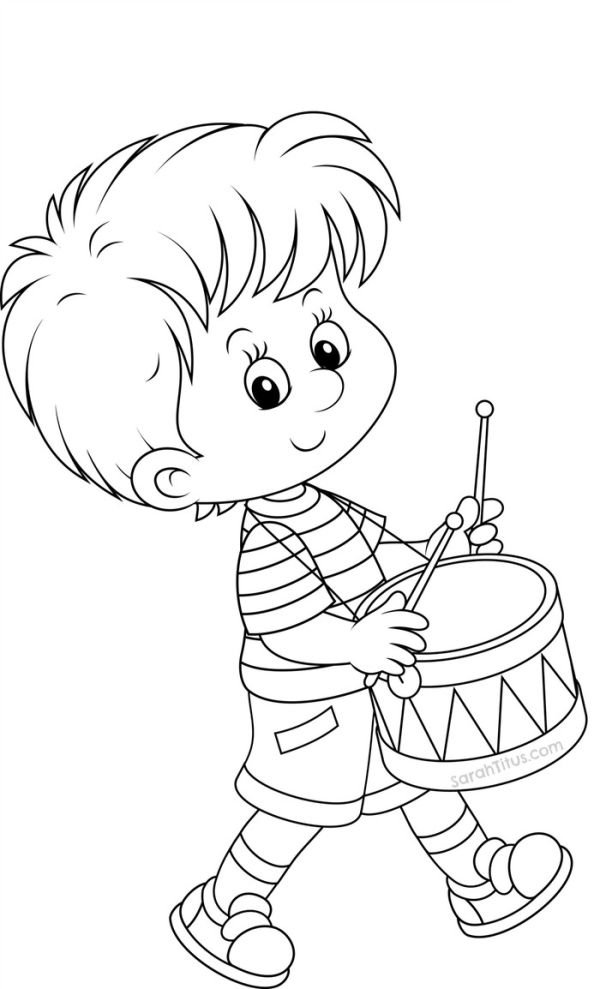 Drumband back to school coloring pages