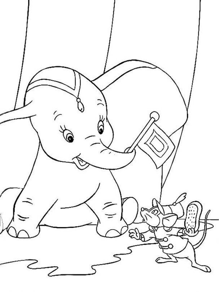 Dumbo And Friends Coloring Pages