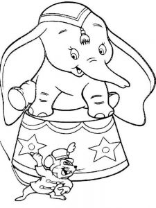 Dumbo Cartoon Coloring Pages