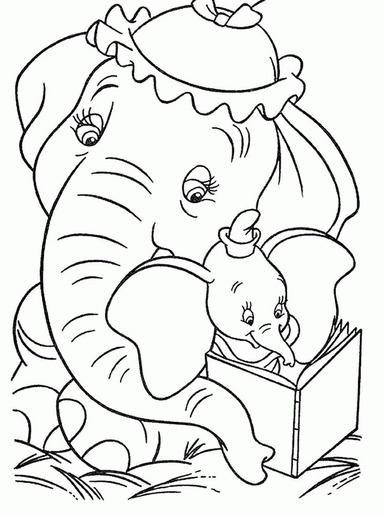 Dumbo Christmas Coloring Pages