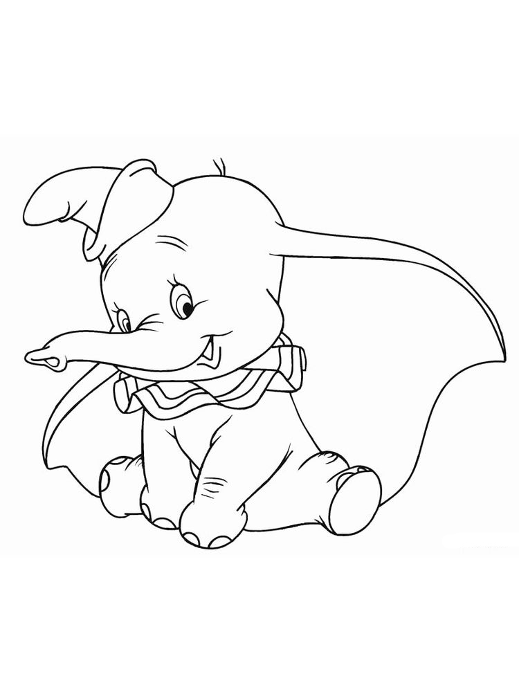 Dumbo Coloring Pages Free Pdf