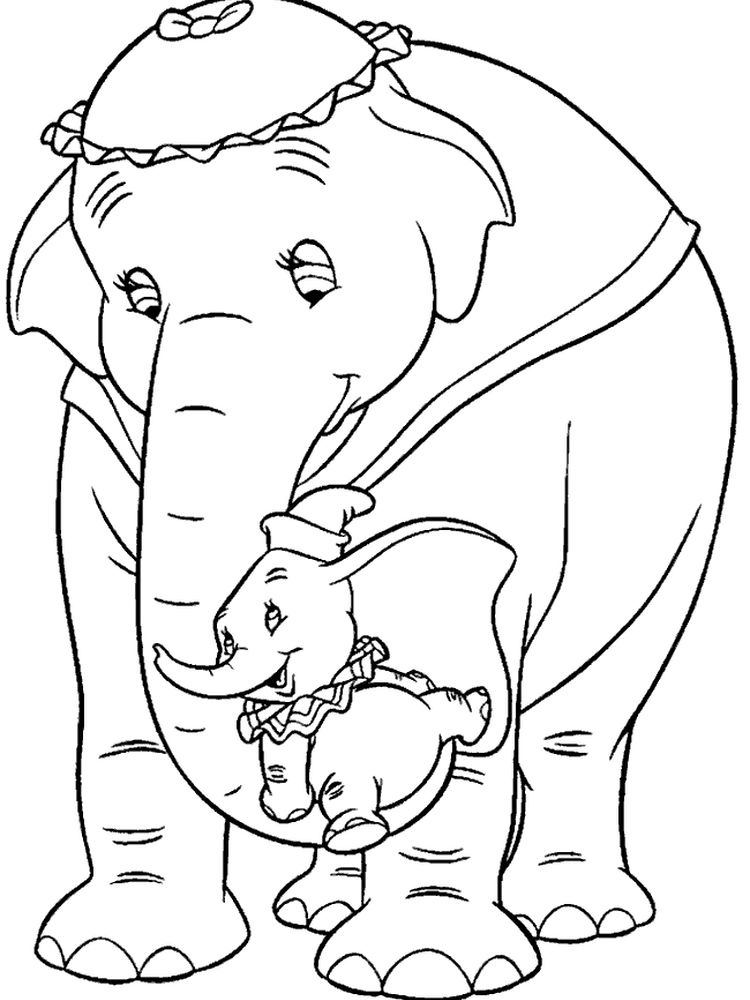 Dumbo Coloring Pages Pdf