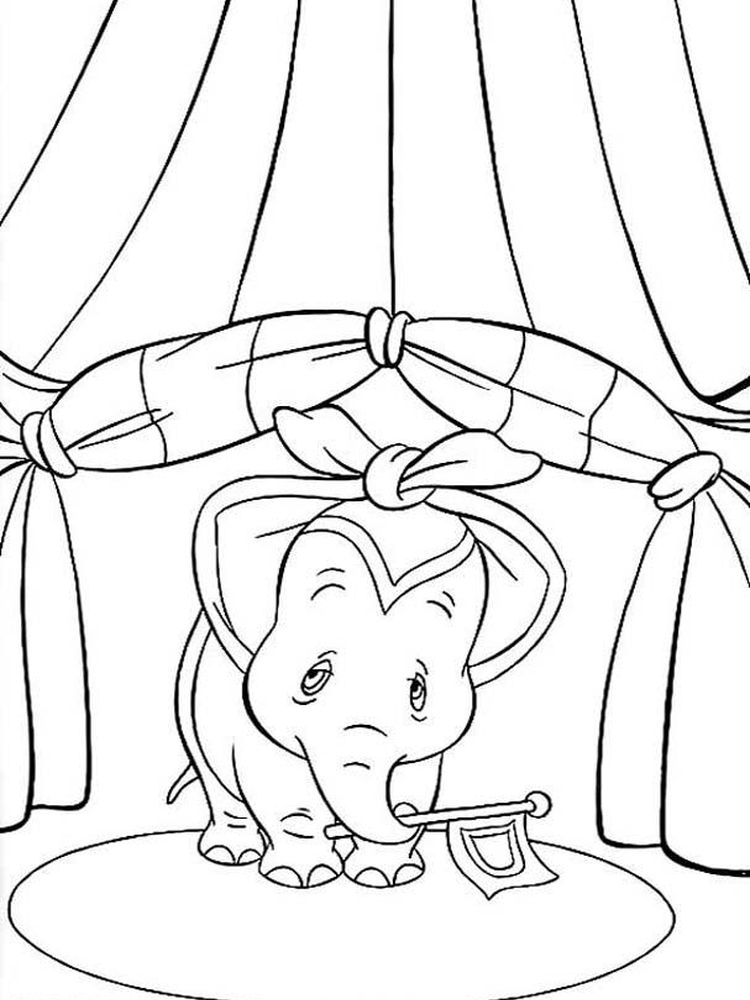 Dumbo Coloring Pages Printable