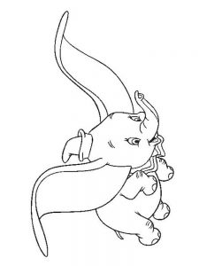 Dumbo Colouring In Pages