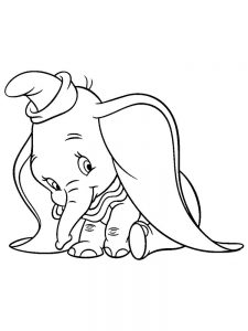Dumbo Elephant Coloring Pages