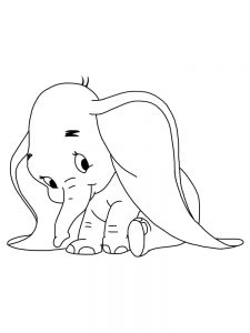 Dumbo Elephant Printable Coloring Pages