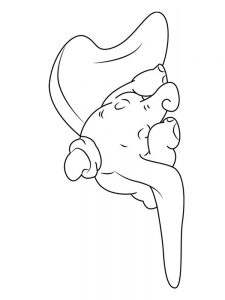 Dumbo The Flying Elephant Coloring Pages