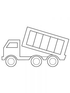 Dump Truck Coloring Page For Preschoolers
