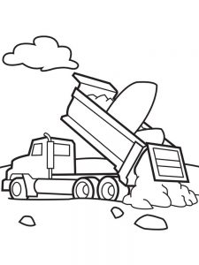 Dump Truck Coloring Pages Easy
