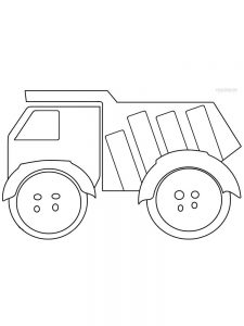 Dump Truck Colouring In Pages