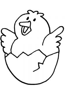 Easter Baby Chick Coloring Pages free