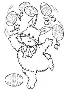 Easter Bunny Coloring Pages For Toddlers