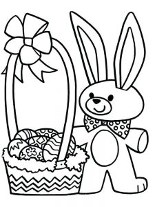 Easter Bunny Coloring Pages Hard