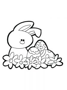 Easter Bunny Colouring Pages