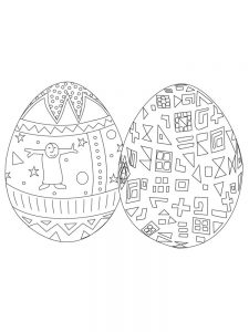 Easter Egg Coloring Pages For Toddlers