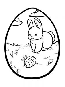 Easter Egg Coloring Pages Pdf