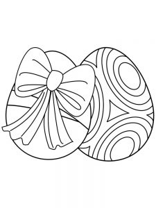 Easter Egg Coloring Pages Plain