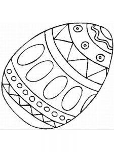 Easter Egg Coloring Sheet Printable