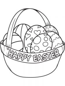 Easter Egg Colouring Pages Free