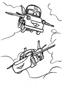 Easy Airplane Coloring Pages 1