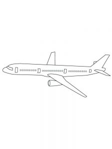 Easy Airplane Coloring Pages