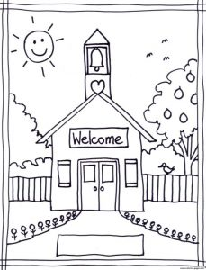 Easy Back To School Kids Coloring Pages