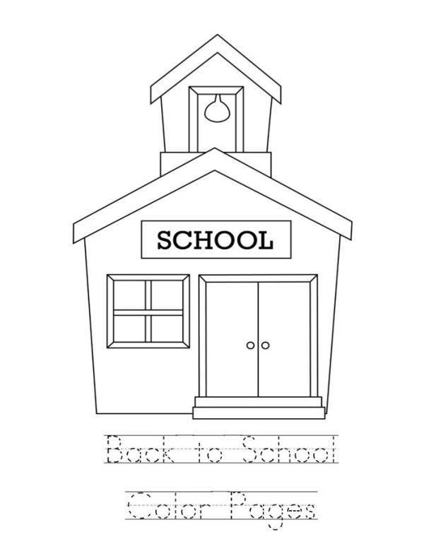 Easy Back to school coloring pages for kids