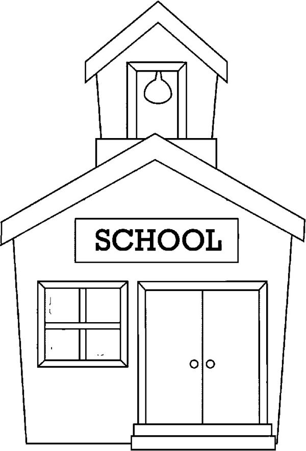 Easy back to school coloring pages