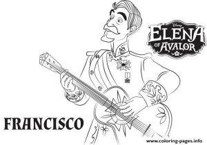 Elena Avalor Francisco Coloring Pages Printable