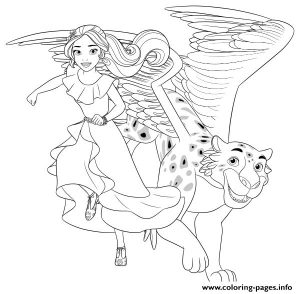 Elena Of Avalor And Jaquin Color Page Coloring Pages Printable