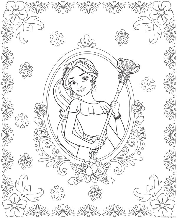 Elena Of Avalor Colouring Page Coloring Pages Printable