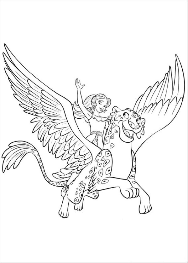 Elena and Migs Elena of Avalor Coloring Pages