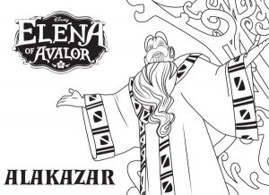 Elena of Avalor Coloring Pages Alakazar