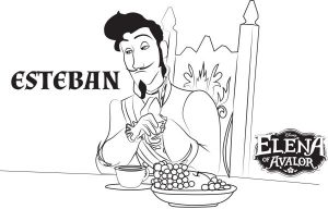 Elena of Avalor Coloring Pages Esteban