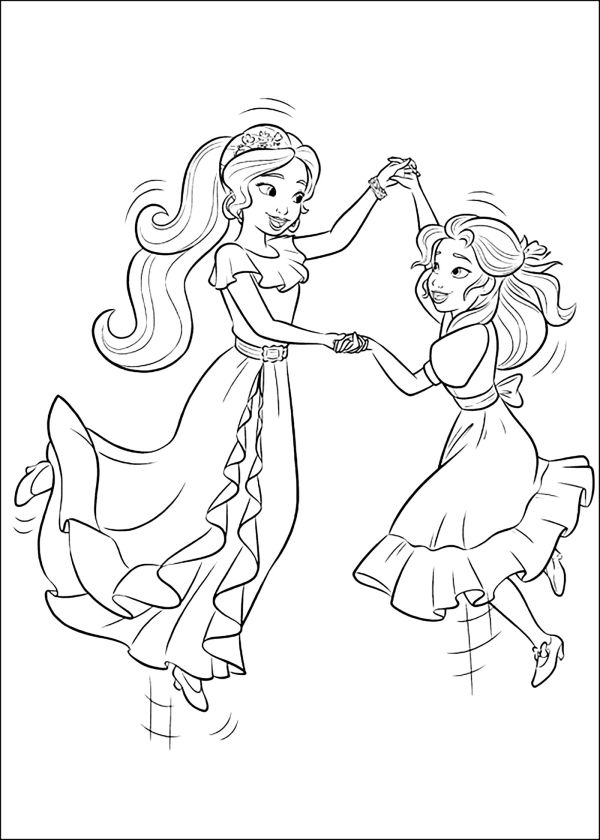 Elena of Avalor Coloring Pages Isabel