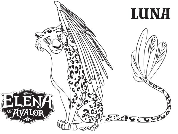 Elena of Avalor Coloring Pages Luna