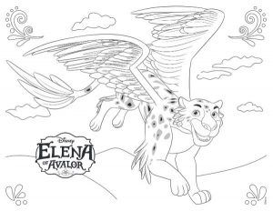 Elena of Avalor Coloring Pages Migs