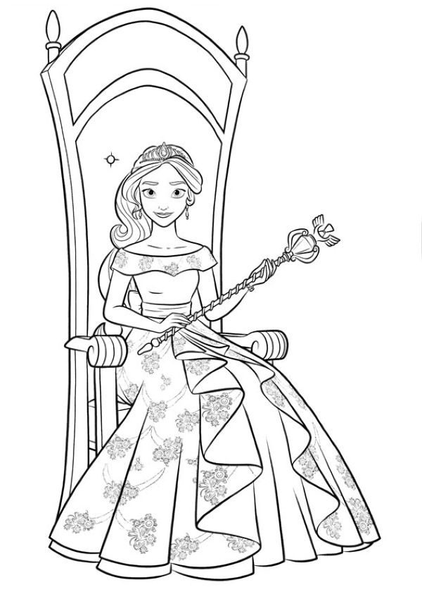 Elena of Avalor Coloring Printables