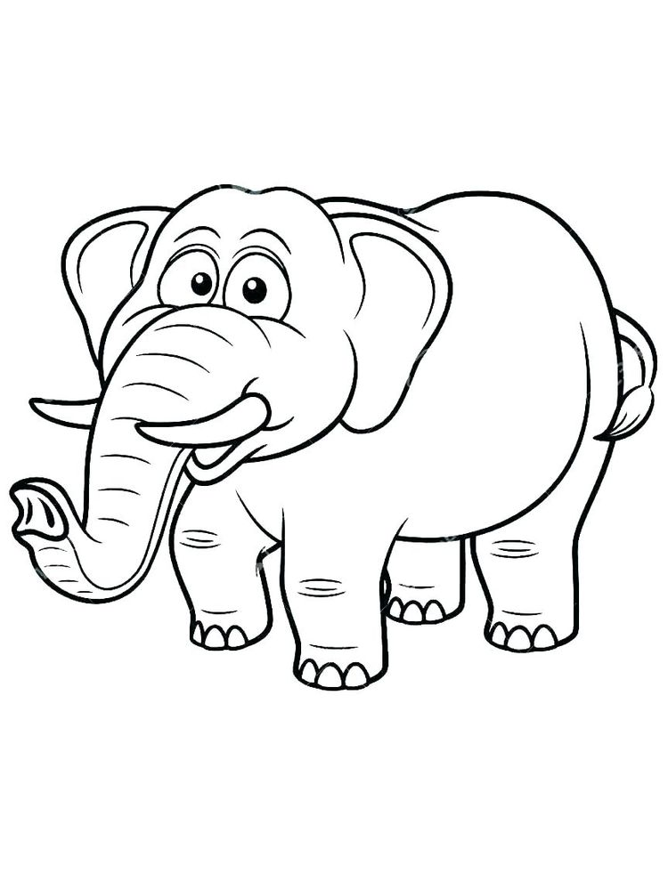 Elephant Coloring Pages For Adults Pdf