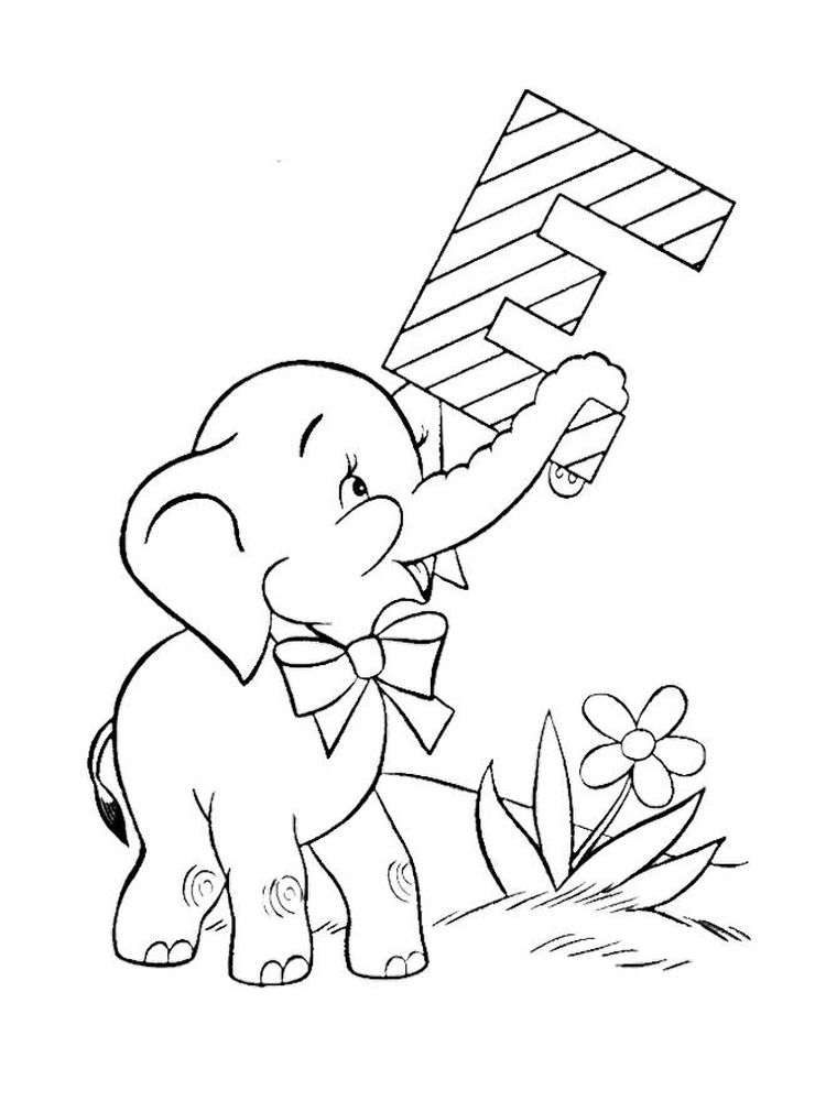 Elephant Coloring Pages For Preschoolers