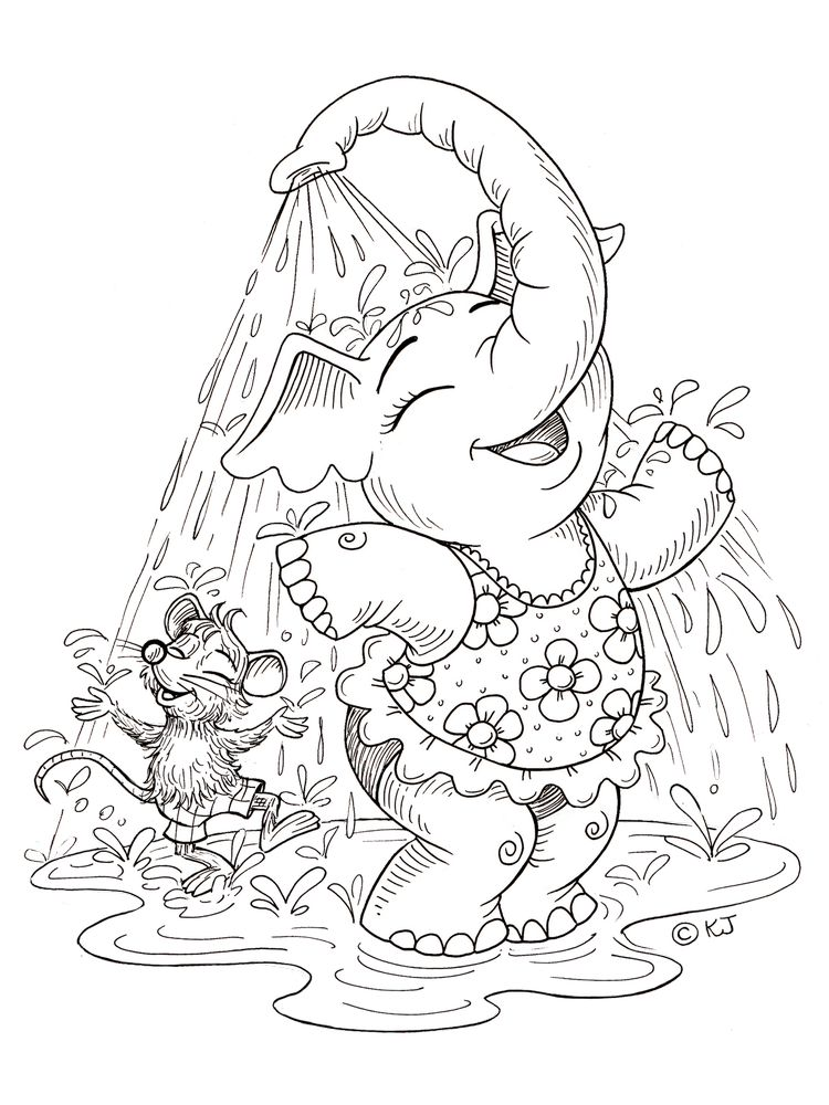Elephant Coloring Pages Free Printable