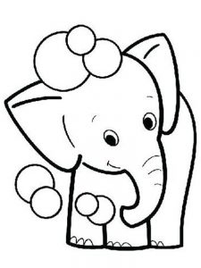 Elephant Coloring Pages Online