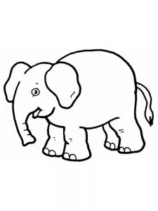 Elephant Coloring Pages To Print Free