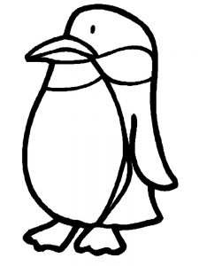 Emperor Penguins Coloring Pages
